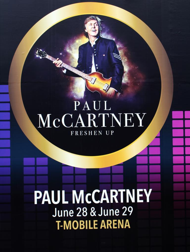 Tourplakat vom Auftritt in Las Vegas, Juni 2019 (Foto von Gerd Coordes)