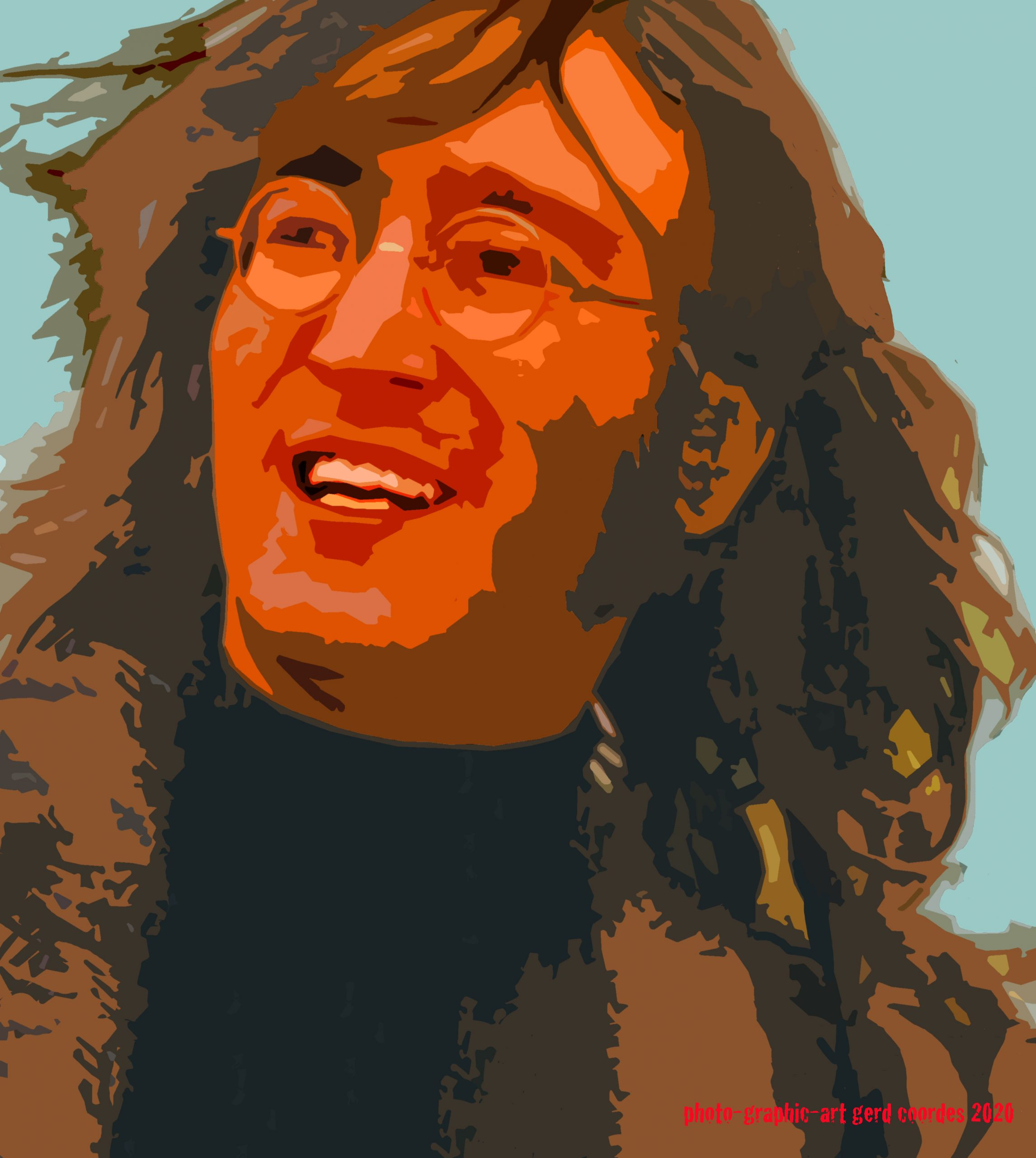 John Lennon - Rooftop Concert Jan. 1969 (Photo-Graphic-Art: Gerd Coordes)