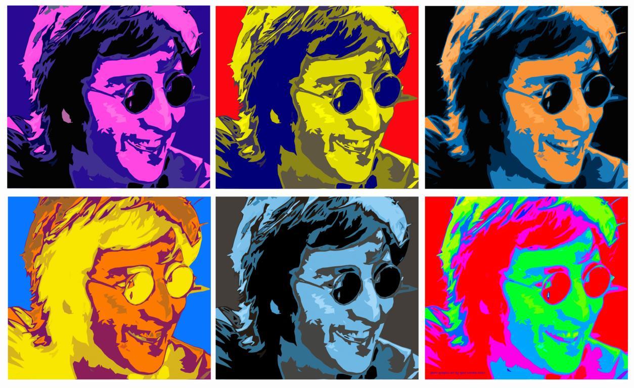 John Lennon PopArt (Photo Graphic Design: Gerd Coordes)